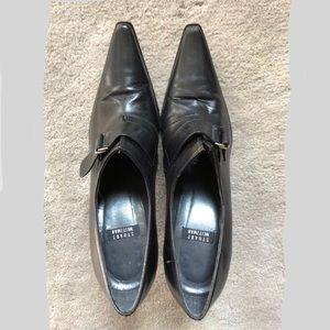 """STUART WEITZMAN Black Leather Booties 3.5"""" Heel 6"""